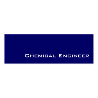 Navy white Chemical Engineer business cards