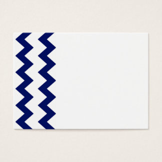 Navy White Chevrons Business Card