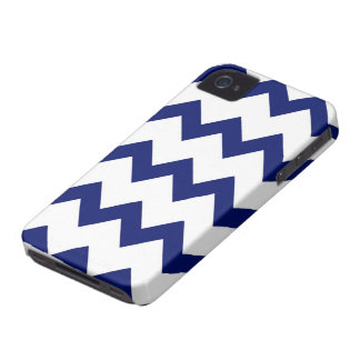Navy White Chevrons Case Case-Mate iPhone 4 Cases