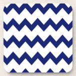 Navy White Chevrons Cork Coaster