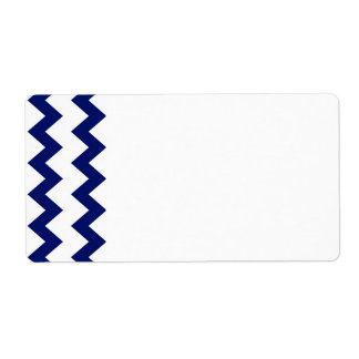 Navy White Chevrons Label