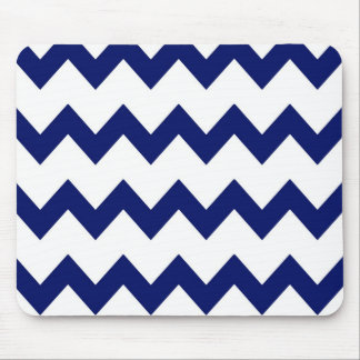 Navy White Chevrons Mousepad