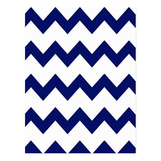Navy White Chevrons Postcard