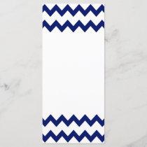 Navy White Chevrons Rack Card