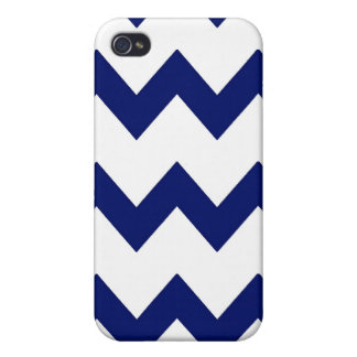 Navy White Chevrons Speck Case Covers For iPhone 4