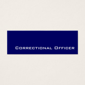 Navy white Correctional Officer business cards