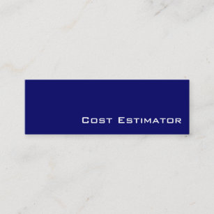 navy white cost estimator business cards - Cost Of Business Cards