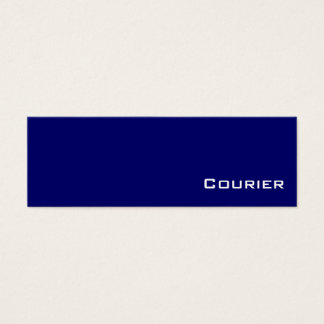 Navy white Courier business cards