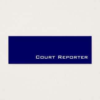 Navy white court reporter business cards