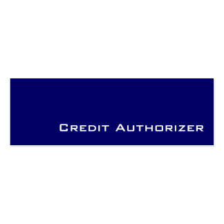 Navy white Credit Authorizer  business cards