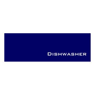 Navy white Dishwasher business cards