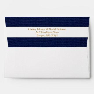 "Navy, White Envelope for 5""x7"" Sizes"