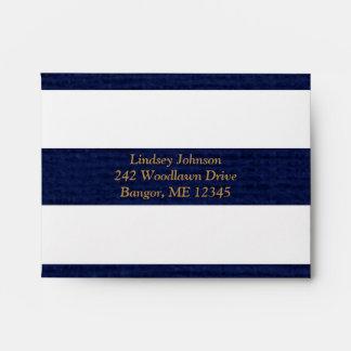 Navy, White Envelope for A2 RSVP