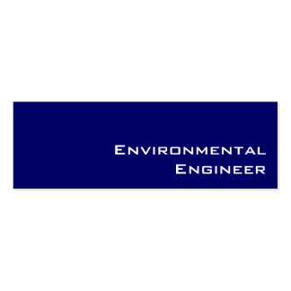 Navy white Environmental Engineer business cards