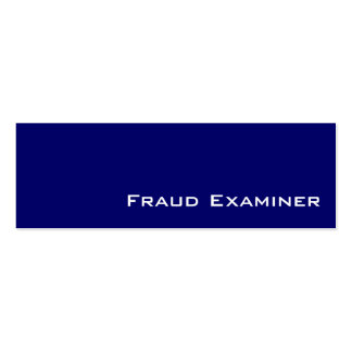 Navy white Fraud Examiner  business cards