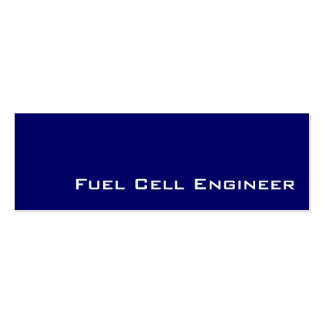 Navy white Fuel Cell Engineer business cards