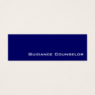 Navy white guidance counselor business cards