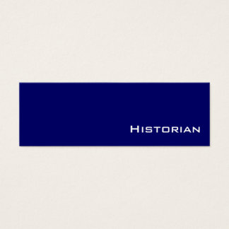 Navy white Historian business cards
