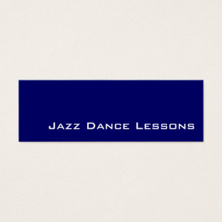Navy white Jazz Dance Lessons business cards