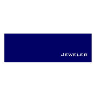 Navy white Jeweler business cards