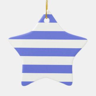 Navy white light blue ceramic ornament