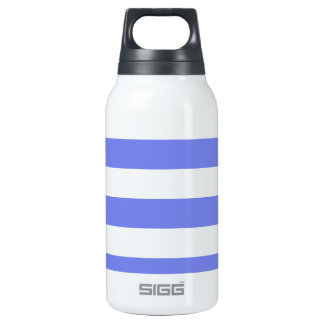 Navy white light blue thermos water bottle