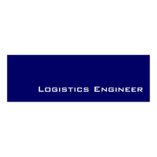 Navy white Logistics Engineer business cards