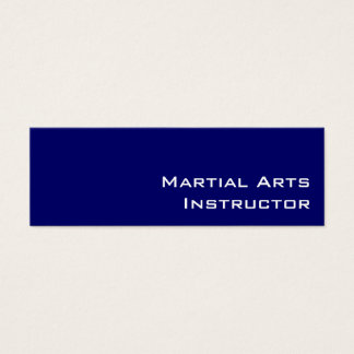 Navy white Martial Arts Instructor business cards