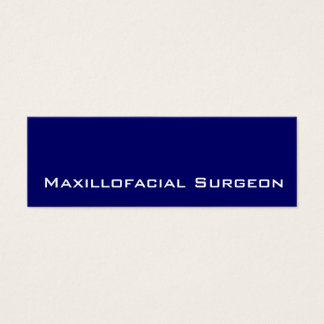 Navy white Maxillofacial Surgeon business cards