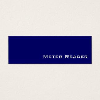 Navy white Meter Reader business cards
