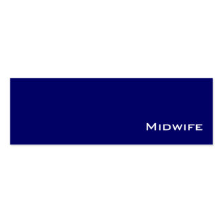 Navy white Midwife  business cards