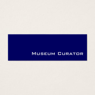 Navy white Museum Curator business cards