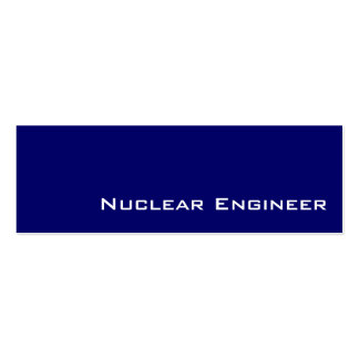 Navy white Nuclear Engineer business cards