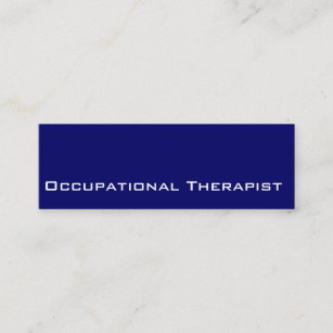 Navy White Occupational The Business Cards