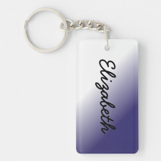 Navy White Ombre Keychain