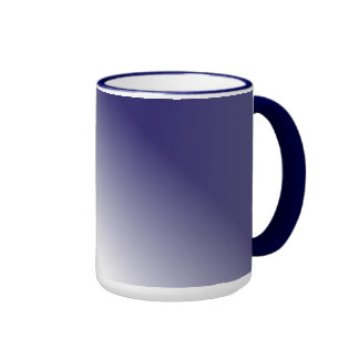 Navy White Ombre Coffee Mugs