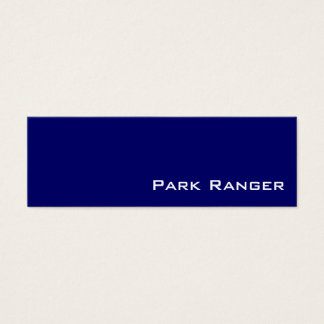 Navy white park ranger business cards