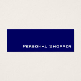 Navy white personal shopper business cards