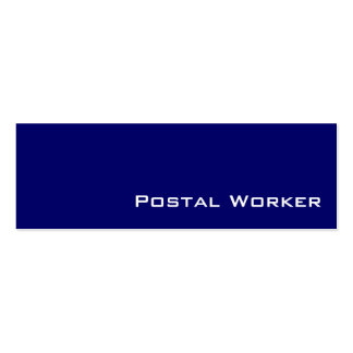 Navy white Postal Worker business cards
