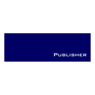 Navy white publisher business cards