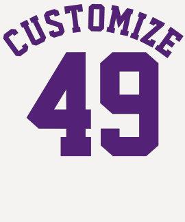 Navy White & Purple Adults   Sports Jersey Design T-Shirt
