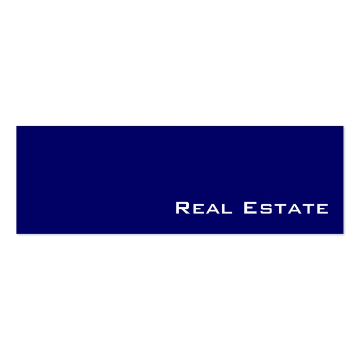 Navy white real estate business cards