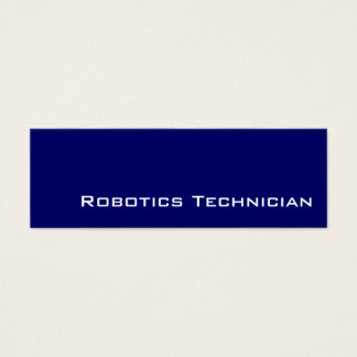 Navy white Robotics Technician business cards