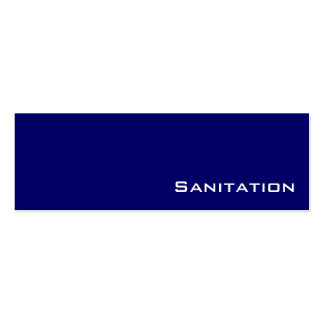 Navy white Sanitation business cards