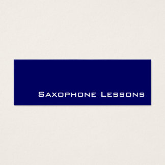 Navy white saxophone lessons business cards