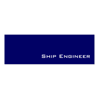 Navy white Ship Engineer business cards