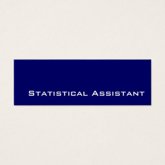 Navy white Statistical Assistant business cards