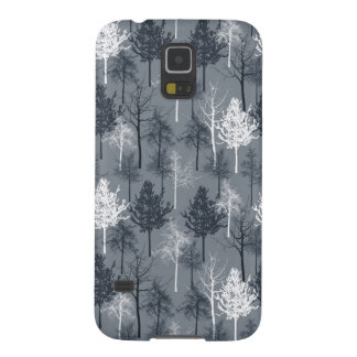 Navy White Trees Galaxy S5 Cases