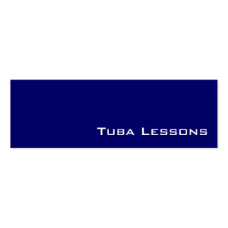 Navy white tuba lessons business cards