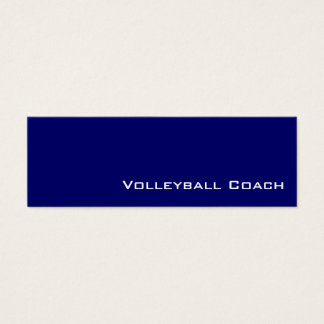 Navy white volleyball coach business cards